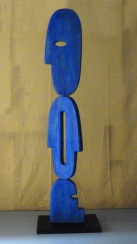Umanità (U.19). 2013.Legno, pigmenti, ferro. cm . (1)
